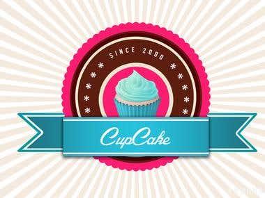 Cup cake logo..