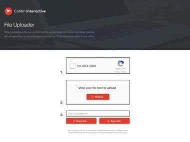 Simple Uploader Webpage