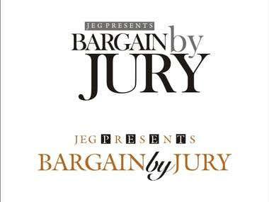 logo for jeg present burgen by jury