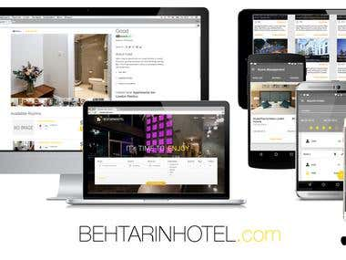Beuty site and application for booking hotel site