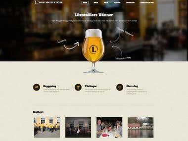 Create website of small organization, design + content.
