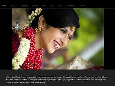 Classic Photo Web_Tech - Wordpress, PHP MySql, HTML, Css