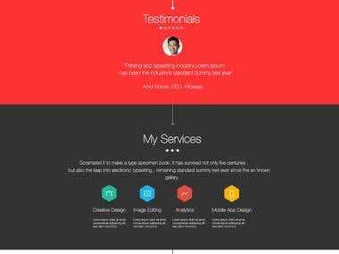 A \'Portfolio Based\' web template !
