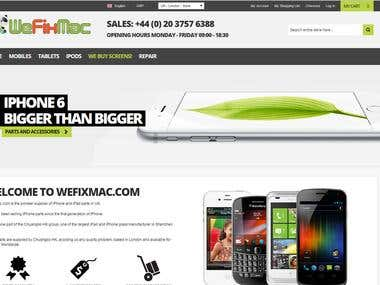 Magento website full development Wefixmac.com