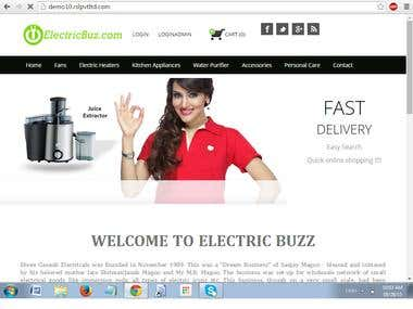 ecommerce web site for Electric Apllainces