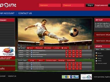 Sportbook webSite in Custom PHP