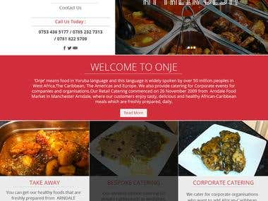 Responsive Resturant site in WordPress