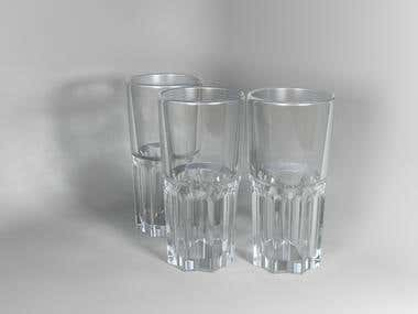 Water glass - 3Ds Max