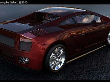 car 3D  modelling  and rendering