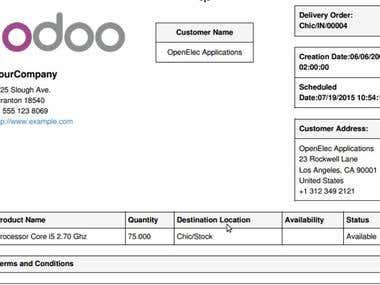 Custom Qweb Reports