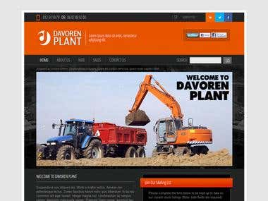 DavorenPlant  developed in wordpress .
