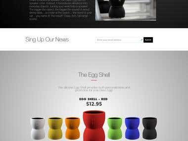 Design Landing Page  site for Audio Device