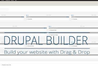 Drupal Drag Drop Builder