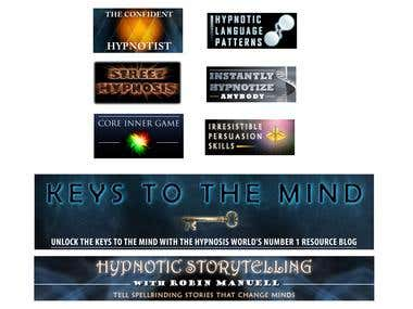 Banner set for a hypnosis site.