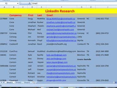 Linked In Data Mining