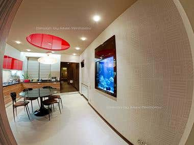Photos of the implemented project Apartment 160 square meter