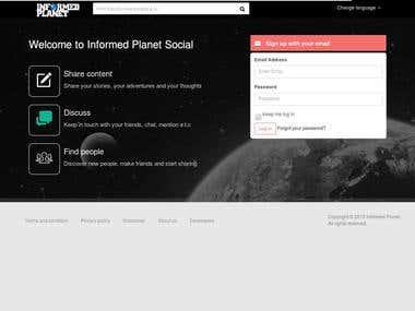INFORMED PLANET SOCIAL NETWORK