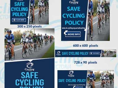 Design web Banners & Flyer for Cycling Victoria
