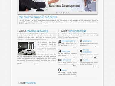 Rankone Infra Project Website