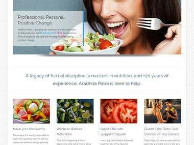 WordPress website by Colorway theme