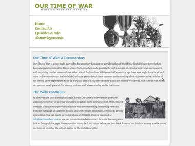 OurTimeofWar Documentary Project