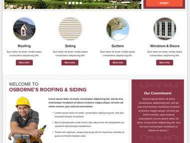 Roofing / Construction Company Website