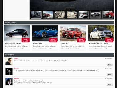 Car Listing Website inner page design