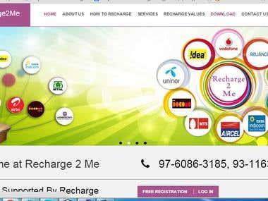 Online mobile recharge portal