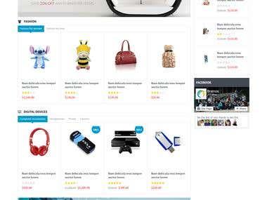 E-commerce website developed using my skills
