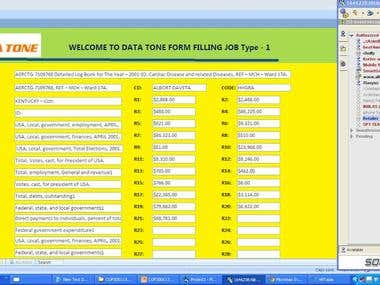 Online Clinical Data Entry