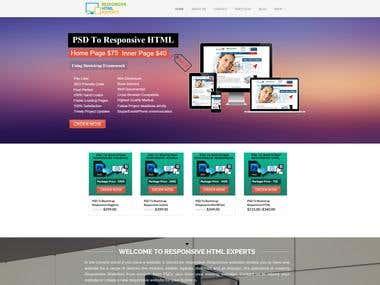 Responsive website design in WordPress.