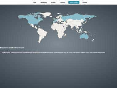 Candies Creative World Map