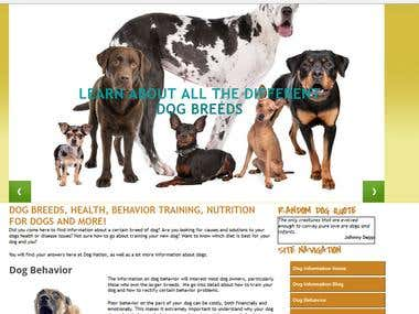 Dog related blog site