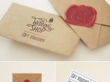 Print Design - The Wedding Shop Gift Voucher