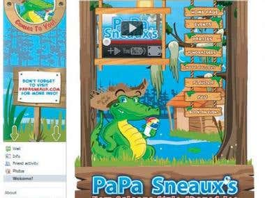 Facebook fan page design Papa Senaux