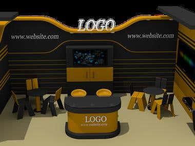 3D model of an office Kiosky