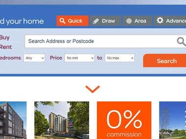 London based real estate site