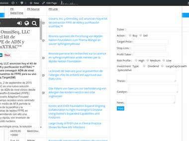 Custom RSS Aggregation & Alert Form