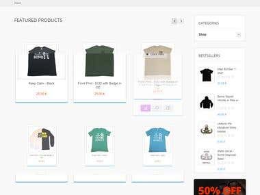 T-shirt website Ecommerce website