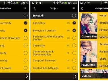 University Course Finder App