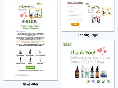 Email Marketing Newsletter Development Banner Design