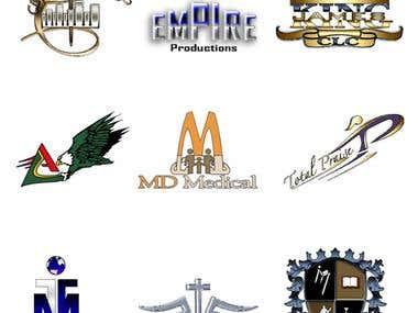 Set of 9 logos 1