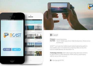 BCast - Live Video Streaming Social Network