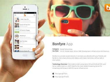 Bonfyre - Private Social Network