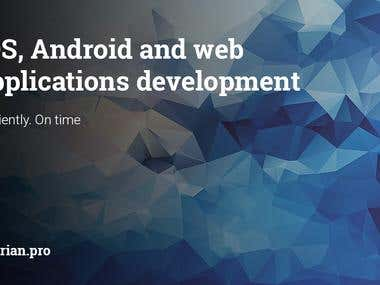 iOS, Android and web applications development