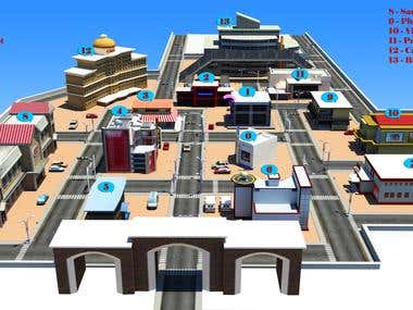 3D Architectural modeling for unity 3D game, Animation etc..