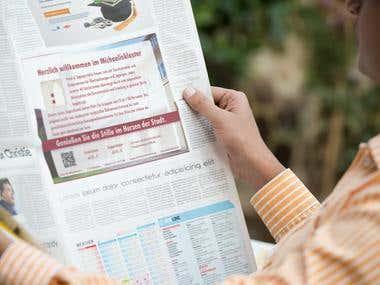 Gestaltung Zeitungsanzeige
