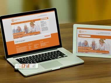 Webseite Pflegedienst