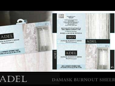 Adel Curtains Package and Logo Design