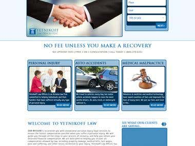 Yetnikoff Law Offices Informational Website